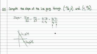 Intermediate Algebra - Slope (Part B)