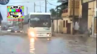 Pour une petite pluie, Lomé devient la Venise du sud... merci aux routes de Faure Gnassingbé
