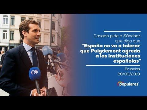 España no va a tolerar que Puigdemont agreda a las instituciones españolas