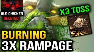 Download Lagu Burning 3x Rampage with 3x Toss Tiny Dota 2 7.07 Dueling Fates Mp3
