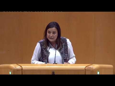 Cristina Sanz, defendiendo en el Senado una educac...