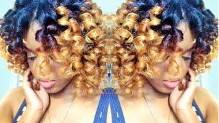 Natural Hair | HEATLESS CURLS w/ Curlformers - YouTube