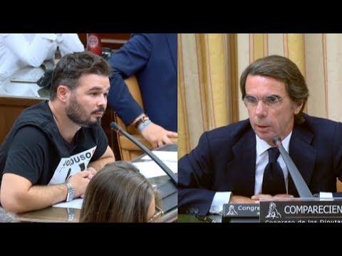 Las mejores frase de Aznar contra Rufián y Pablo Iglesias