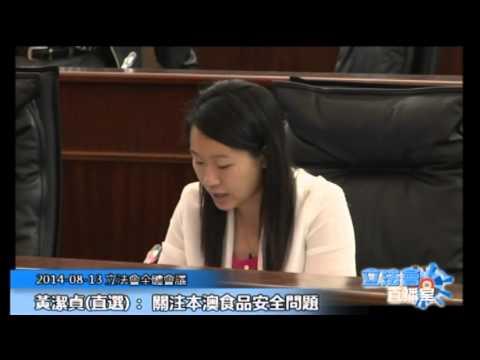黃潔貞 立法會全體會議 20140813