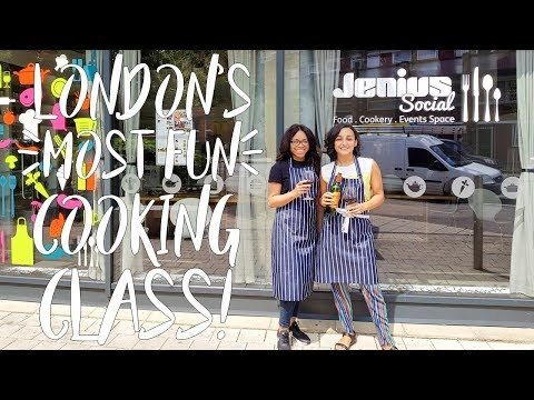 UK Food Vlog | London's Most Fun Cooking Class!