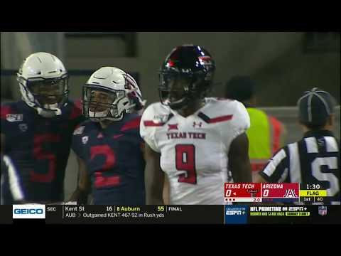 Texas Tech Football at Arizona: TV Highlights | 2019