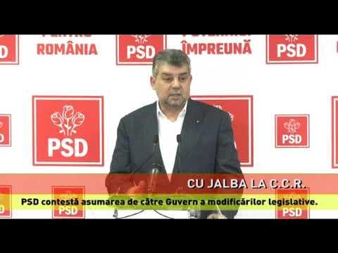 PSD contestă la C.C.R. asumarea de către Guvern a modificărilor legislative