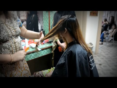 Hair Cutting Technique & How to Do a Slide Cutting  Layers(nazia bilal)