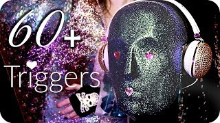 ASMR 60+ Triggers over 3.5 Hours ✨ (NO TALKING) Intense Relaxing Ear to Ear Sleep Sounds