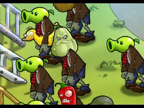 pvz - Another tough mini-game from plants vs zombies, ZomBotany 2 The trick to beat this level is to equip wall-nuts and tall-nuts (if you can equip imitater tall-...