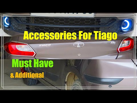 Tata Tiago All Important & Additional Accessories - Scuff Plate-DRL-Bumper Protector- Arm Rest