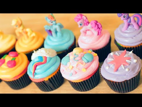 My - Today I made My Little Pony Rainbow Cupcakes! I really enjoy making nerdy themed goodies and decorating them. I'm not a pro, but I love baking as a hobby. Pl...