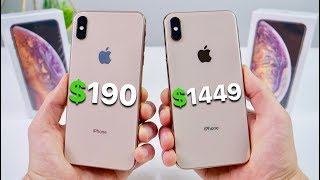 Video $190 Fake iPhone XS Max vs $1449 XS Max! (NEW) MP3, 3GP, MP4, WEBM, AVI, FLV Februari 2019
