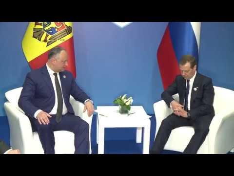 Президент Молдовы Игорь Додон встретился с премьер-министром России Дмитрием Медведевым