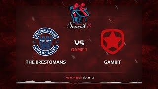 The Brestomans против Gambit, Первая карта, Квалификация на Dota Summit 8