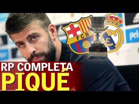 Barcelona - Real Madrid | Rueda de prensa completa de Piqué | Diario AS
