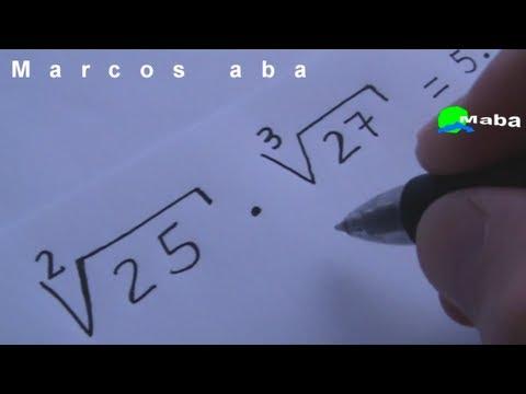 Raiz quadrada e Raiz cúbica - Matemática