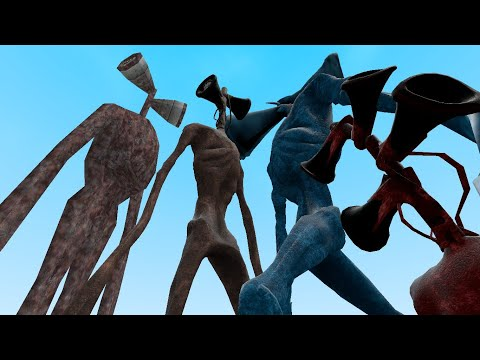 OLD AND NEW SIREN HEADS VS BLOOD AND ICE SIREN HEADS!! Garry's Mod [Siren Head] Gameplay
