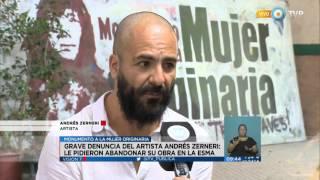 Quieren frenar la obra del artista Andrés Zerneri