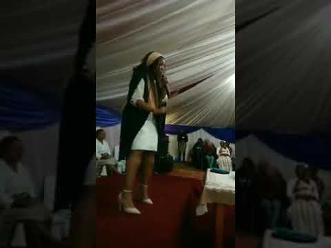 Ms Sanda Gobozi preaching the Heart of God @ Evangelical Movement Revival