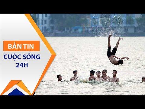 Bãi tắm tự phát Hồ Tây: Hà bá 'chờ sung' | VTC1 - Thời lượng: 2 phút, 57 giây.