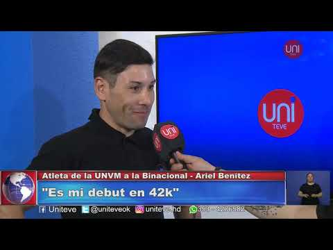 Ariel Benítez correrá la maratón Binacional