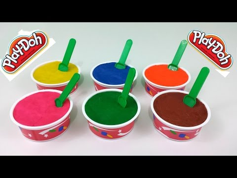 Play Doh Ice Cream Surprise Eggs Toys Spongebob Minnie Mouse Hello Kitty Thomas The Tank Engine