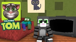 Monster School: My Talking Tom Challenge - Minecraft Animation