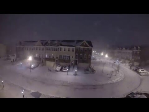 A 28 Hour Time Lapse Video of the Snow Accumulation in Maryland During Winter Storm