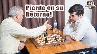 La leyenda del ajedrez Garry Kasparov pierde en su retorno al ajedrez su primera partida ante Ian Nepomniachtchi en el Torneo...