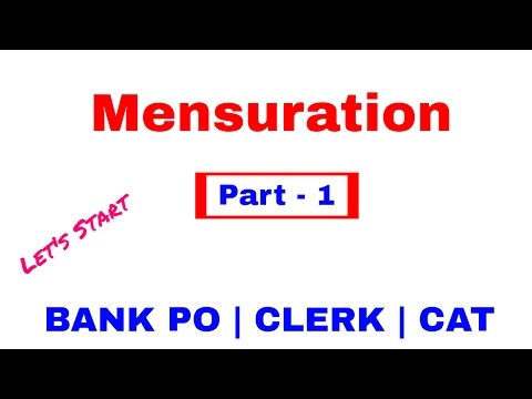 Mensuration Maths Tricks For Bank Po | Clerk [in Hindi] Part 1