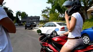 7. How to Ride (Drive) a Motorcycle  2007 Yamaha R6 600cc Candy Red; stock exhaust