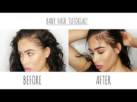 Baby Hair | Lay Your Edges | NO GEL Heatless Tutorial (видео)
