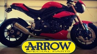 8. Arrow Sound Test: 3-1 Lowboy Exhaust on Triumph Speed Triple 1050