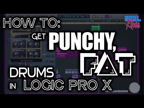 How To: Get Punchy, Fat Drums in Logic Pro X - Tutorial 001