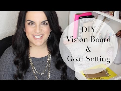 DIY Vision Board   2016 Goal Setting How To