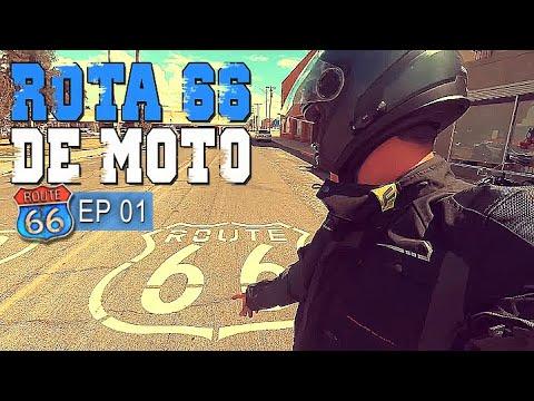 Rota 66 de moto - Começa a aventura - Ep 01 #turismo #viagem #motos #harley #vlog