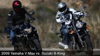 8. 2008 Suzuki B-King vs 2009 Star VMAX