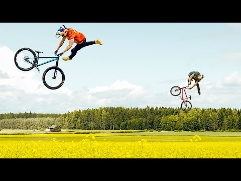 Field Trippin  Watch Two Riders Pull Sick BMX Tricks As They Pop In And Out Of A Flower