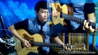 Slam - Gerimis Mengundang (Malaysia) Nathan Fingerstyle menggunakan Pulpen ( 1 jari )