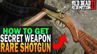 Secret Weapon! How To Get The Rare Shotgun! Red Dead Redemption 2 Secret Items