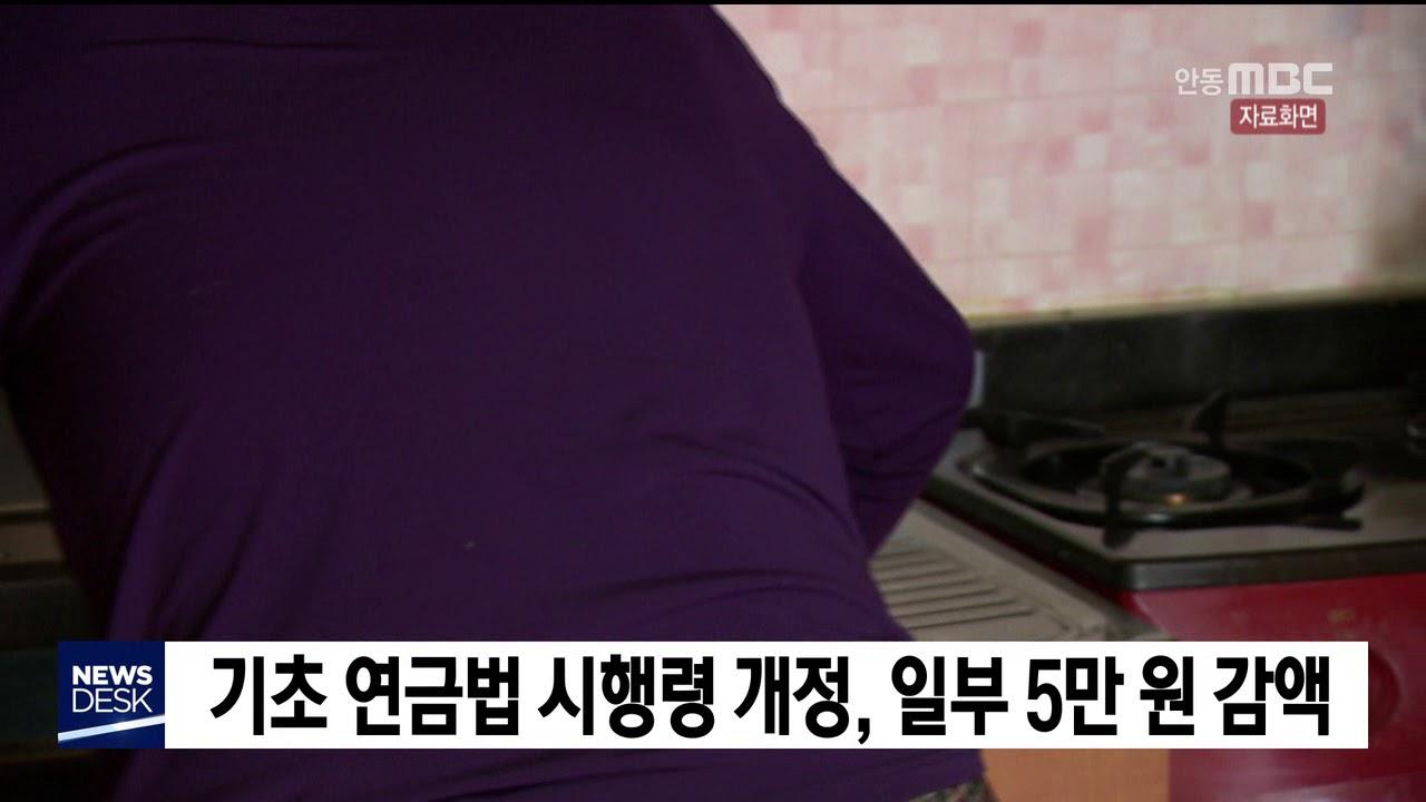 기초 연금법 시행령 개정.일부 5만원 감액