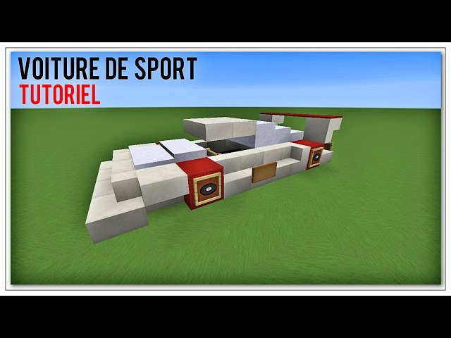 tuto minecraft comment faire une voiture de sport. Black Bedroom Furniture Sets. Home Design Ideas