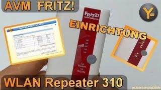 einrichtung amp konfiguration  avm fritz! wlan repeater 310   wifi verstã¤rker 802.11b g n wpa2