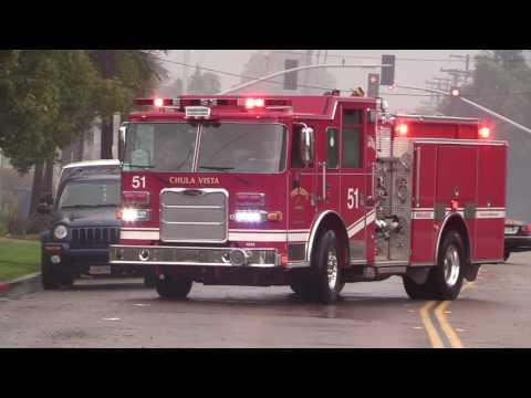 Chula Vista: Tree falls and causes fire 01202017
