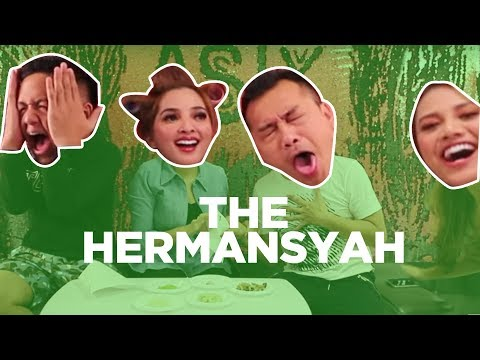 THE HERMANSYAH - CHALLENGE WHAT'S IN MY MOUTH, ANANG-AZRIEL MUNTAH-MUNTAH