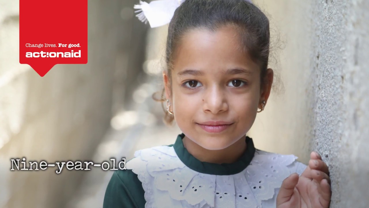 Nine-year-old Dima is traumatised by the recent war in Gaza