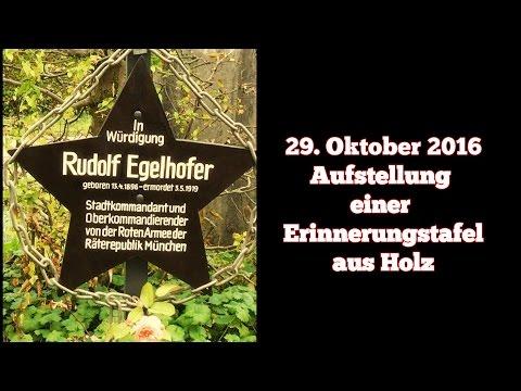 Aufstellung einer Erinnerungstafel für Rudolf Egelhofer, 29. Oktober 2016