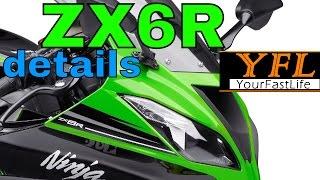 9. ✔ ZX6R 2016 Kawasaki Ninja in depth DETAILS! #ZX6R
