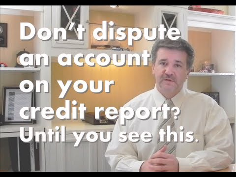 What happens to your credit score when you dispute an account on your credit report?